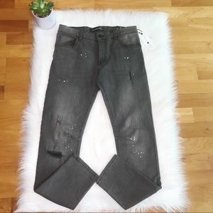 NWT Treasure & Bond Gray Skinny Distressed Jeans